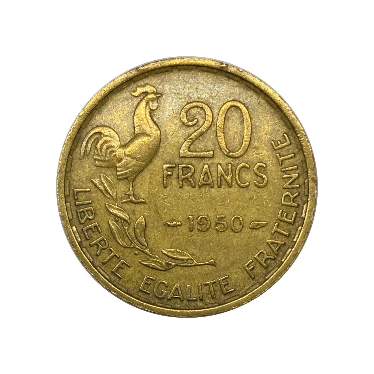 Moeda França 20 Francos 1950 MBC