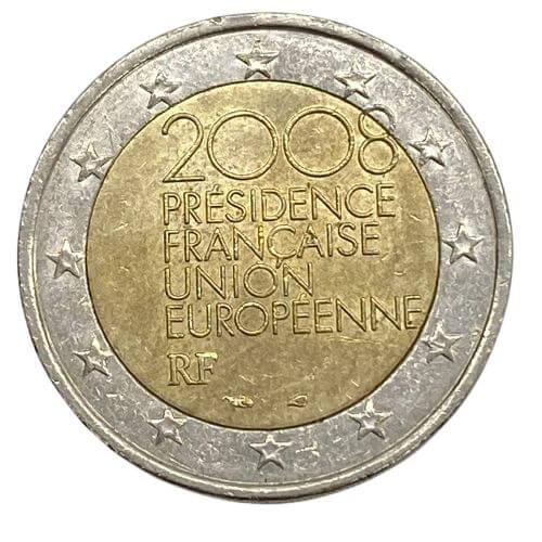 Moeda França 2 Euro, 2008 Presidência Francesa do Conselho da União Europeia