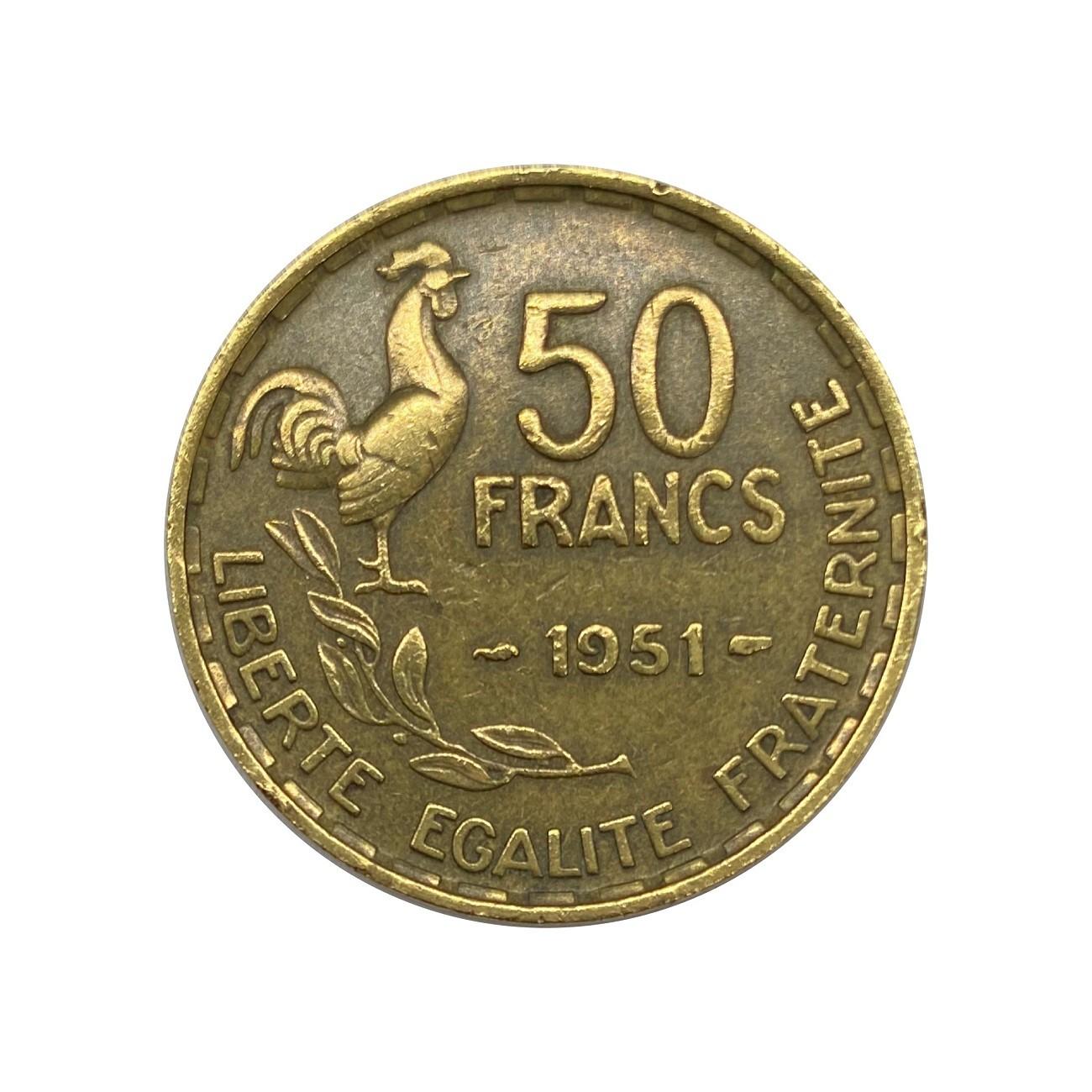 Moeda França 50 Francos 1951 MBC