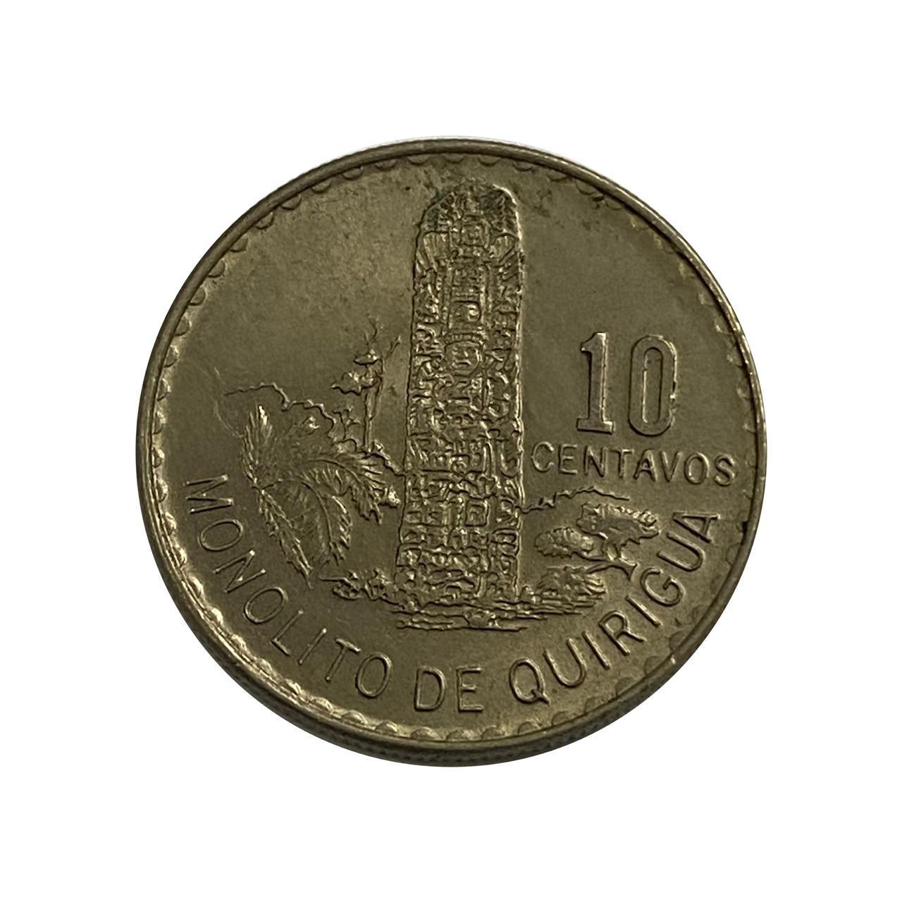 Moeda Guatemala 10 Centavos 1974 MBC