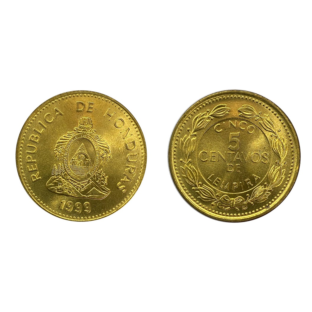 Moeda Honduras 5 Centavos 1999 SOB