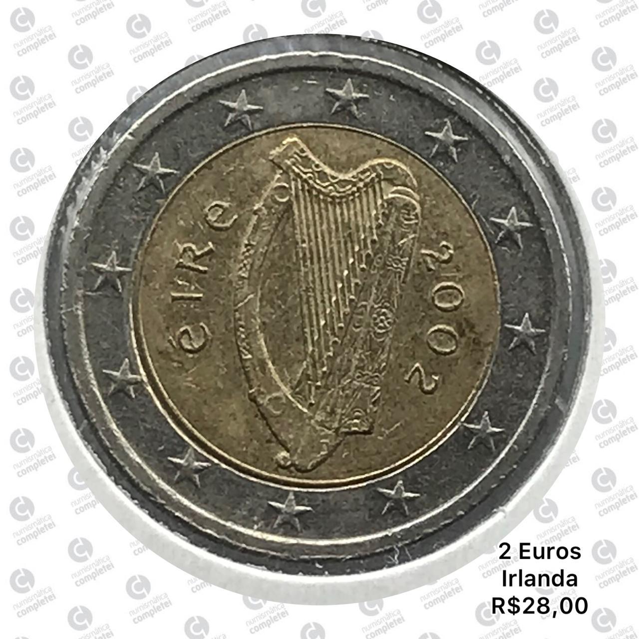 Moeda Irlanda 2 Euros 2002 MBC