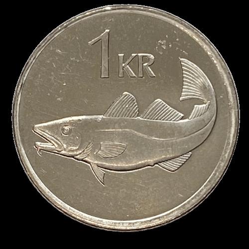 Moeda Islândia 1 Coroa 1999 SOB