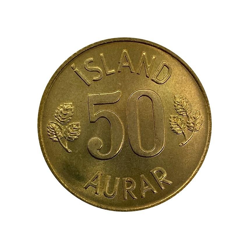 Moeda Islândia 50 Aurar 1974 FC