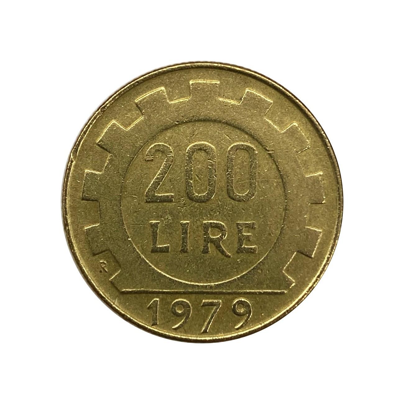 Moeda Itália 200 Liras 1979 MBC