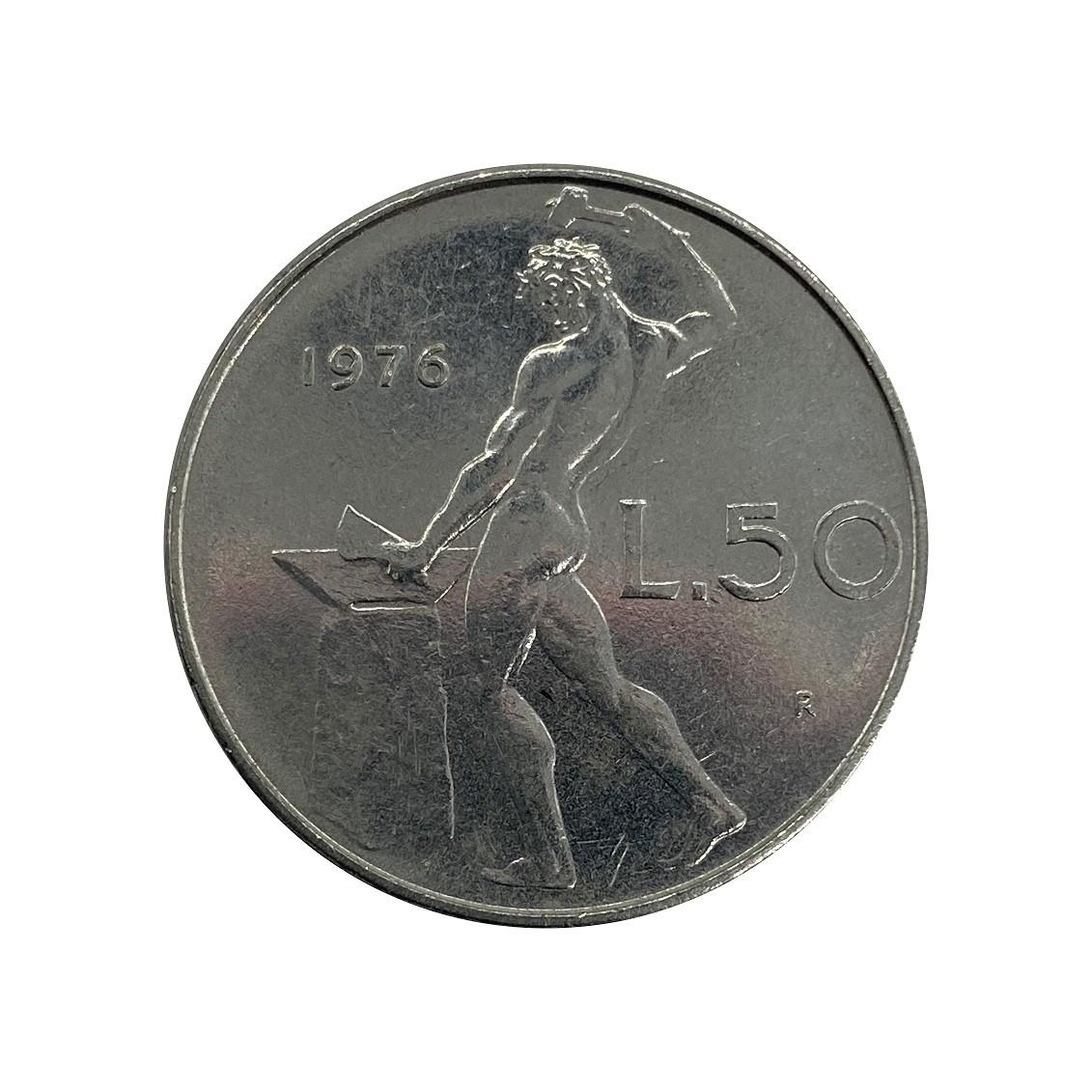 Moeda Itália 50 Liras 1979 MBC