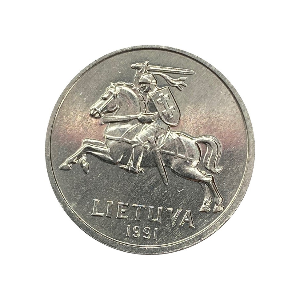 Moeda Lituânia 1 Centas 1991