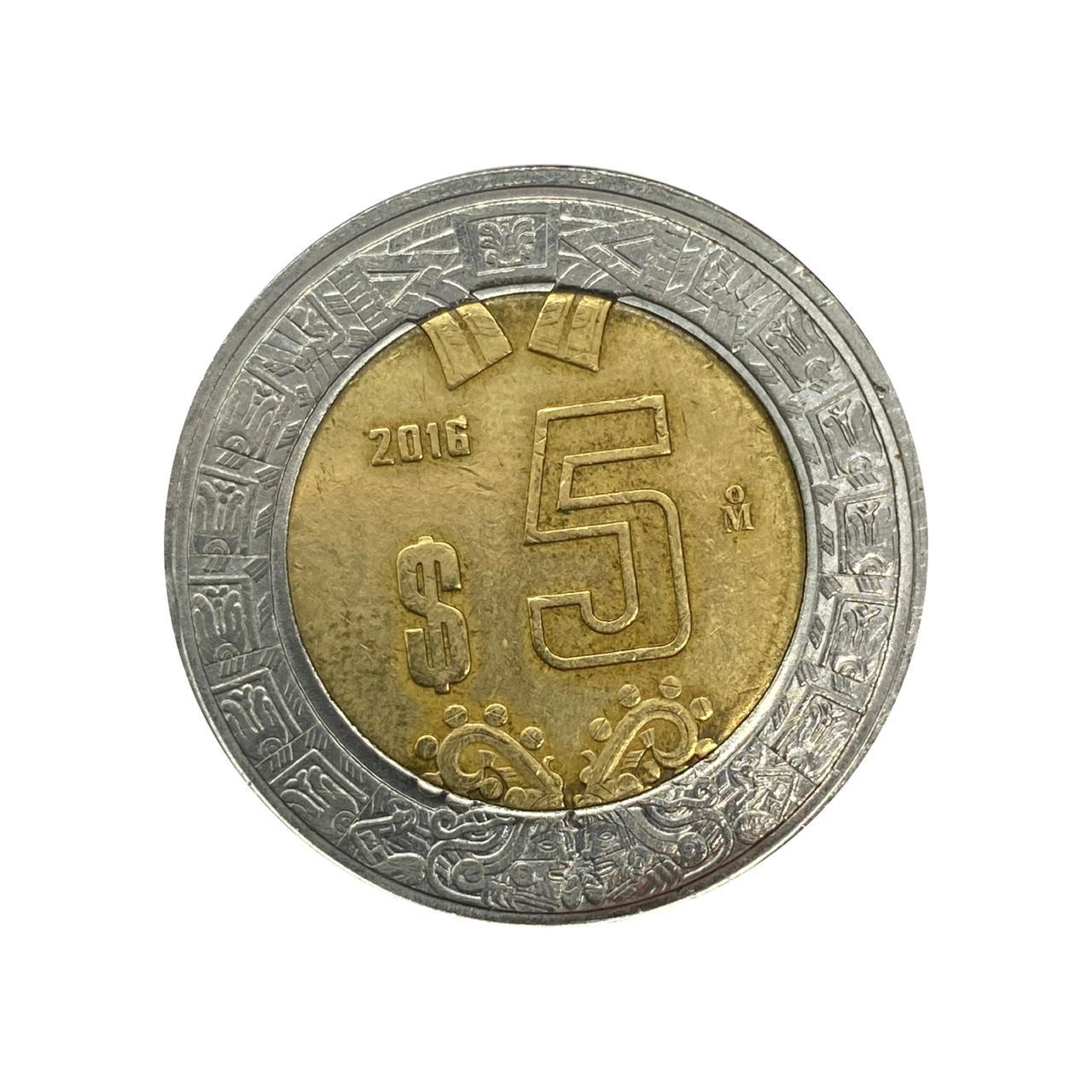 Moeda México 5 Pesos 2016 MBC