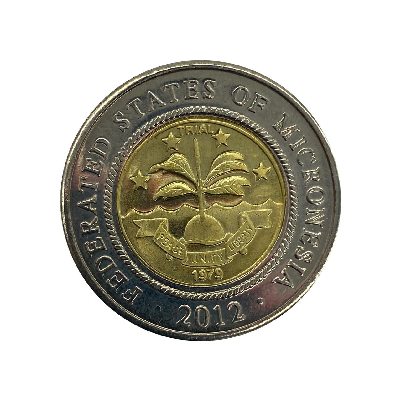 Moeda Micronésia 2 Dólares 2012 FC