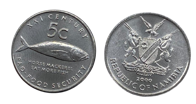 Moeda Namíbia 5 cêntimos, 1999-2000 FAO