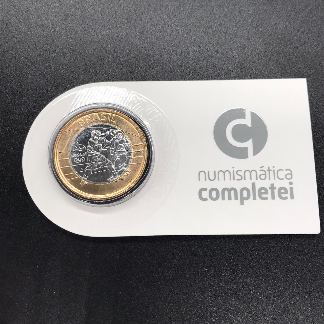 Moeda Olímpica  no Coin Holder Boxe