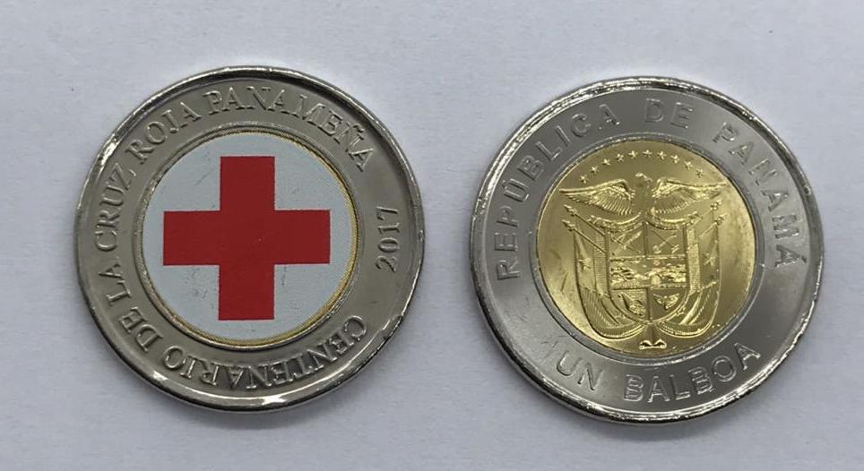 Moeda Panamá - Comemorativa Cruz Vermelha 2017