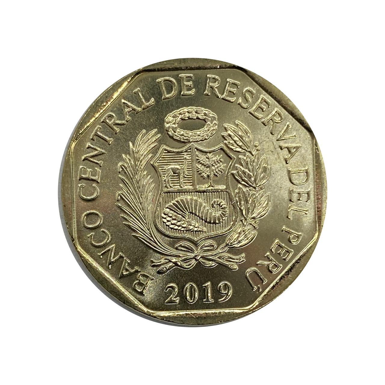 Moeda Peru Fauna 1 Sol 2019 FC