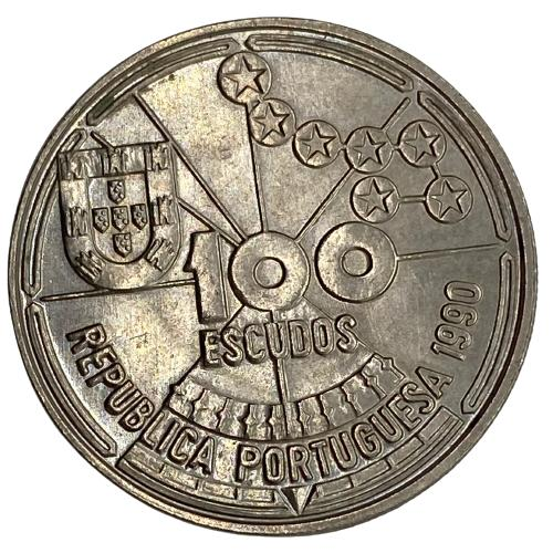 Moeda Portugal 100 Escudos II Série Descobrimentos - À Conquista do Atlântico - Navegação Astronômica