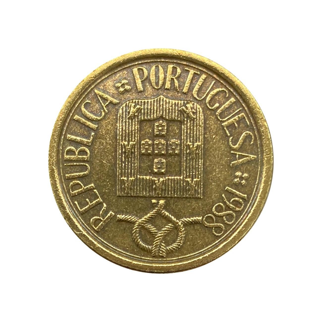 Moeda Portugal 10 Escudos 1988 MBC