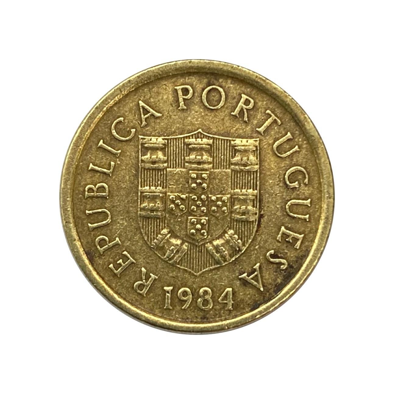 Moeda Portugal 1 Escudo 1984 MBC