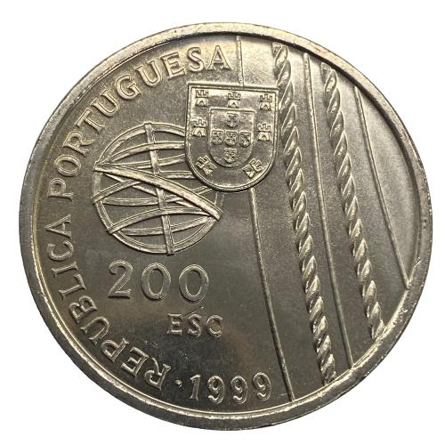 Moeda Portugal 200 Escudos 1999 X Série dos Descobrimentos - A Descoberta do Brasil - Morte no Mar