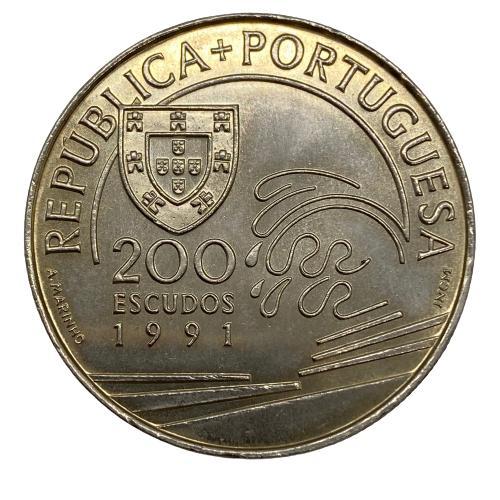 Moeda Portugal 200 Escudos - Colombo e Portugal 1476-1485 FC