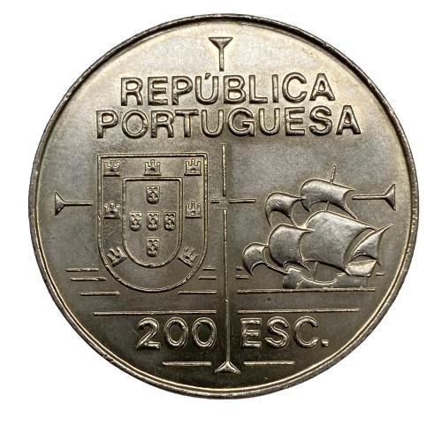 Moeda Portugal 200 Escudos II Série - À Descoberta da América Califórnia FC