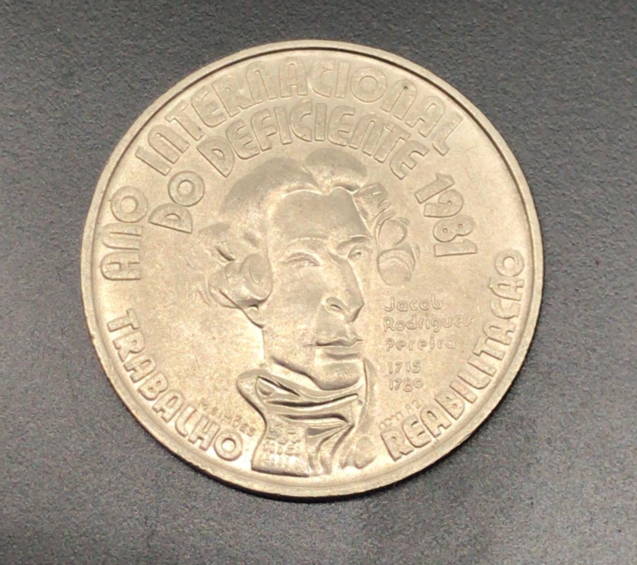 Moeda Portugal Ano Internacional do Deficiente 100 Escudos 1981 SOB