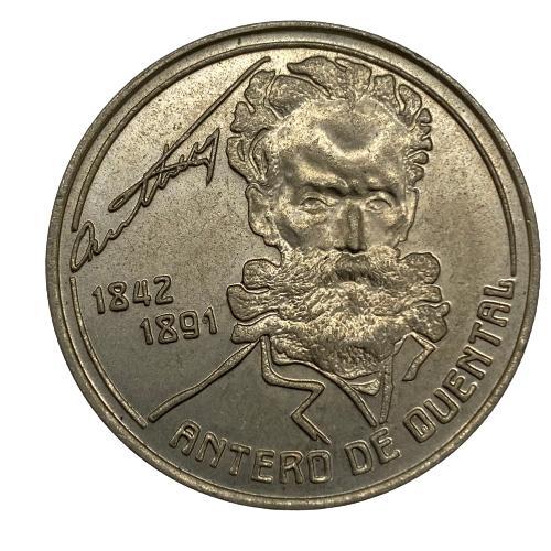 Moeda Portugal Antero de Quental 100 Escudos 1991