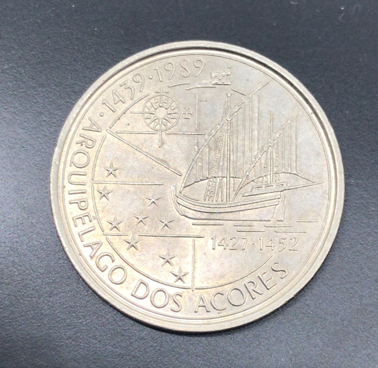 Moeda Portugal Arquipélago dos Açores 100 Escudos 1989 SOB