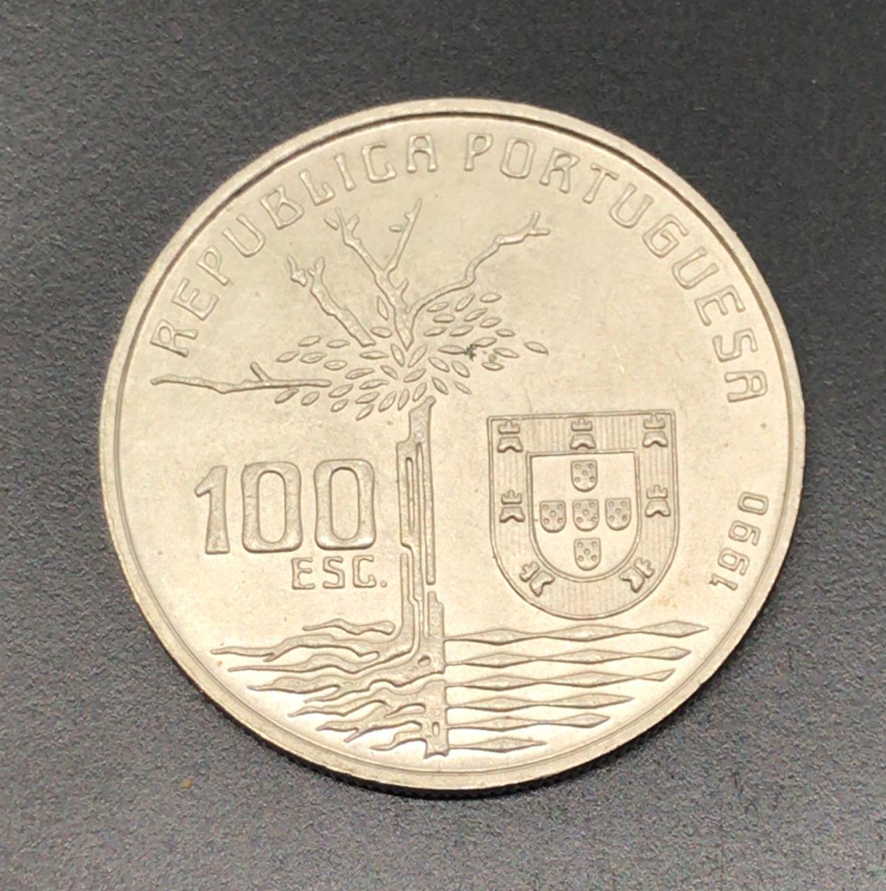 Moeda Portugal Camilo Castelo Branco 100 Escudos 1990 SOB