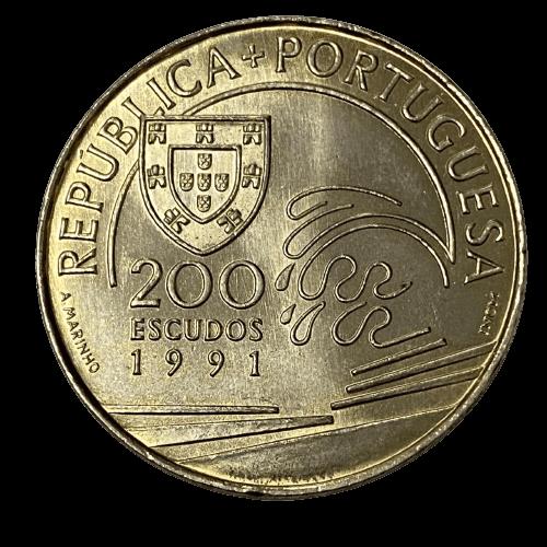 Moeda Portugal Comemorativa 200 Escudos 1991 SOB