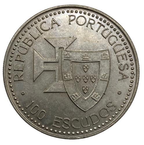 Moeda Portugal Porto Santo 100 Escudos 1989