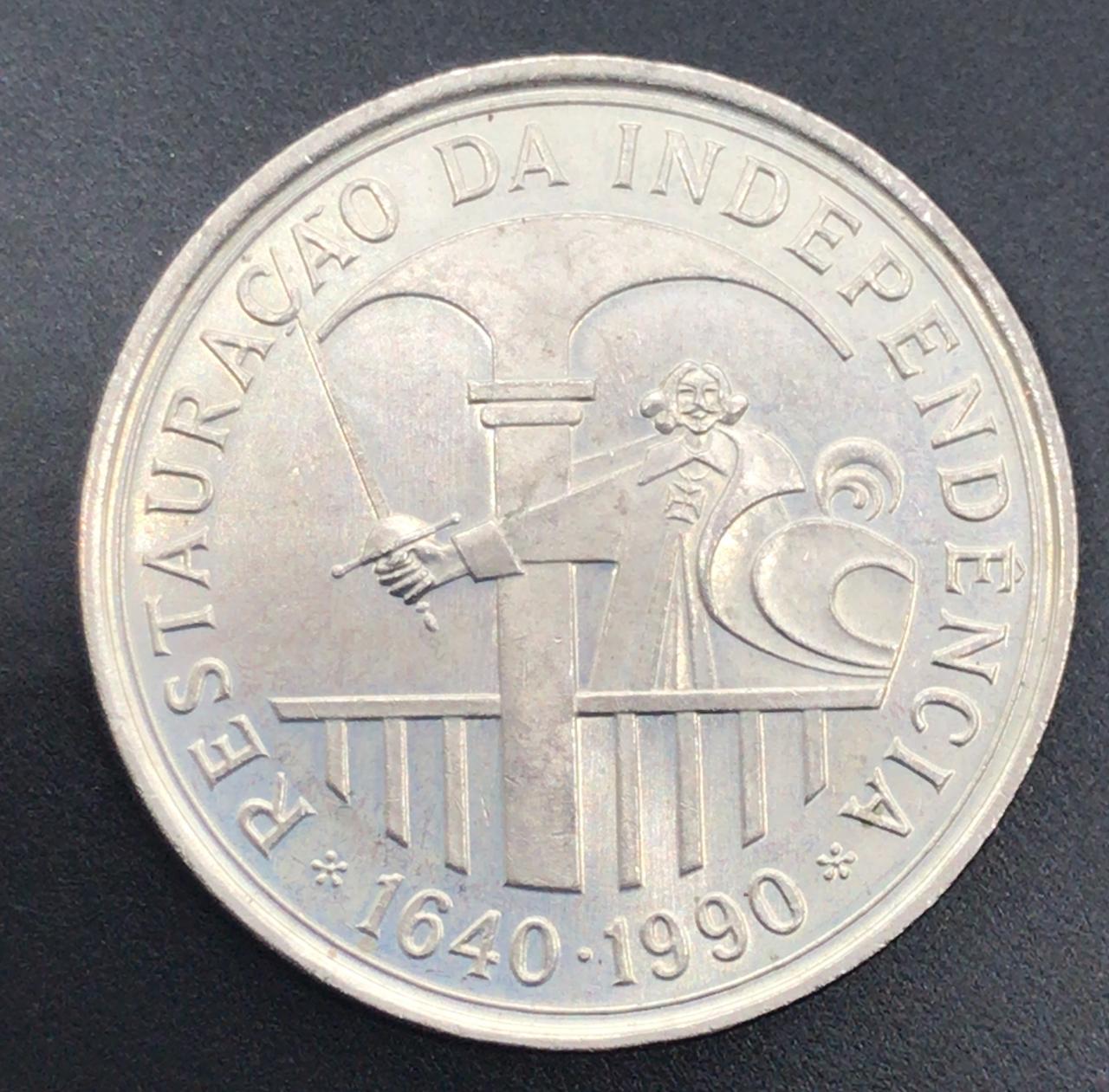Moeda Portugal Restauração da Independência 100 Escudos 1990 SOB