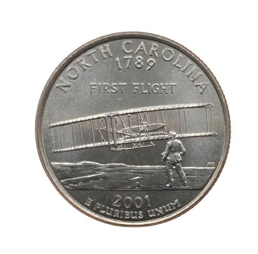 Moeda Quarter Dollar North Carolina 2001 D FC