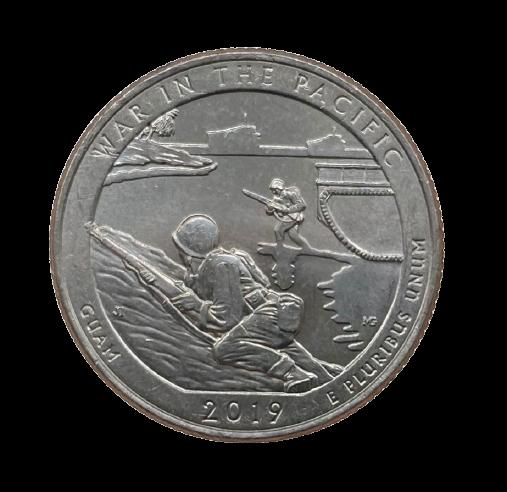 Moeda Quarter Dollar War in the Pacific 2019 P FC