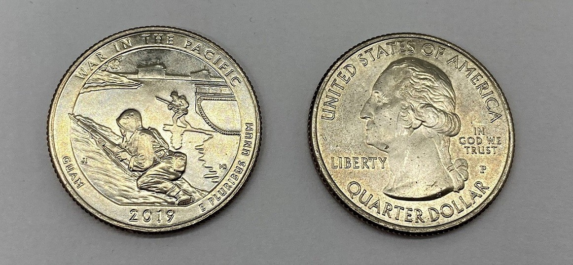 Moeda Quarter Dollar War in the Pacific-2019-P (flor de cunho)
