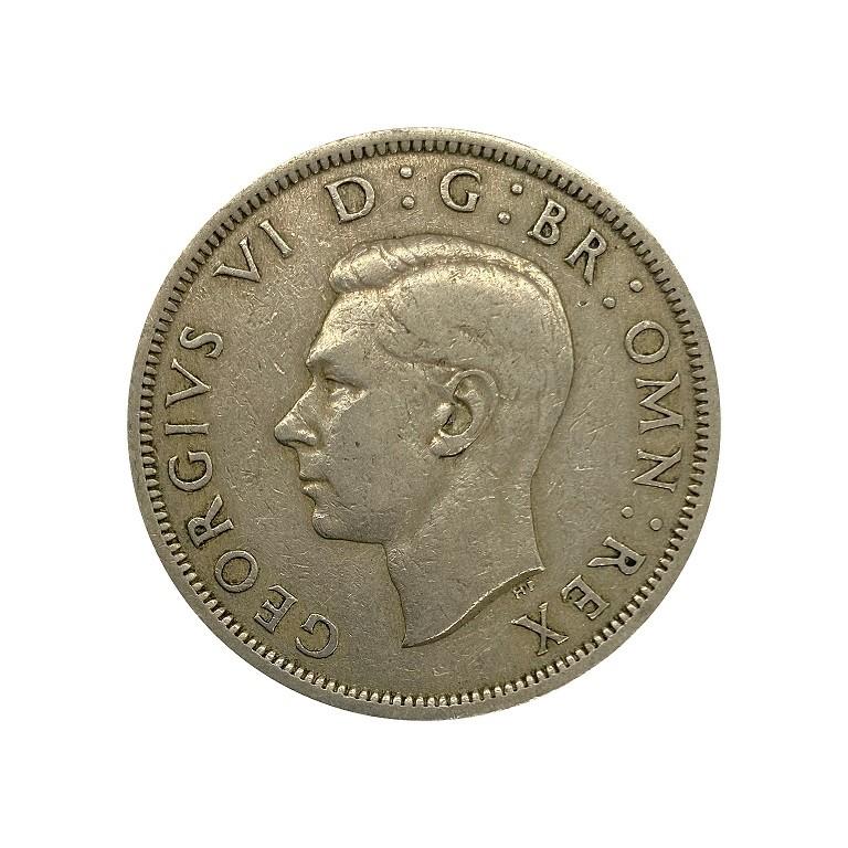 Moeda Reino Unido ½ coroa 1948 MBC