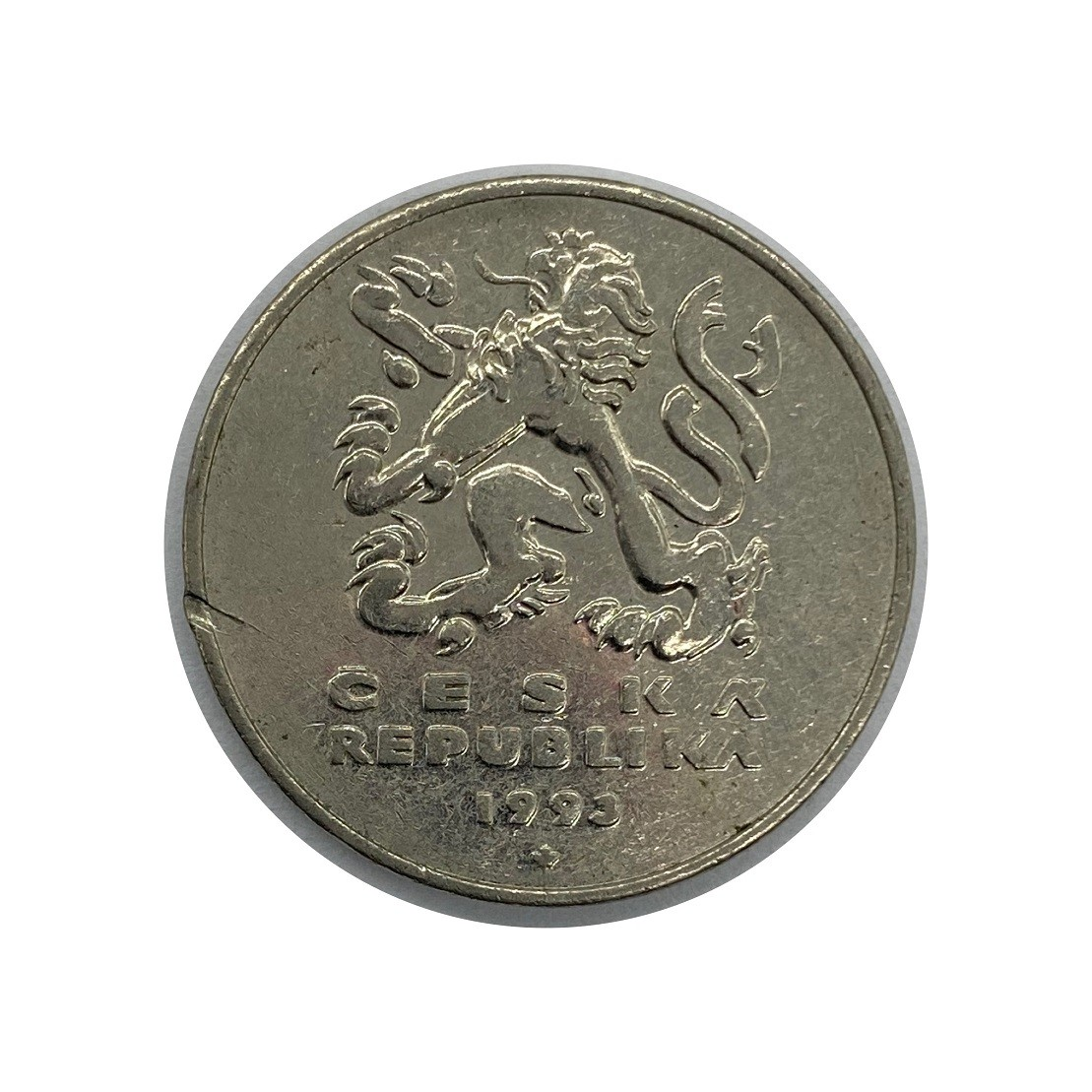 Moeda República Tcheca 5 Coroas 1993 MBC