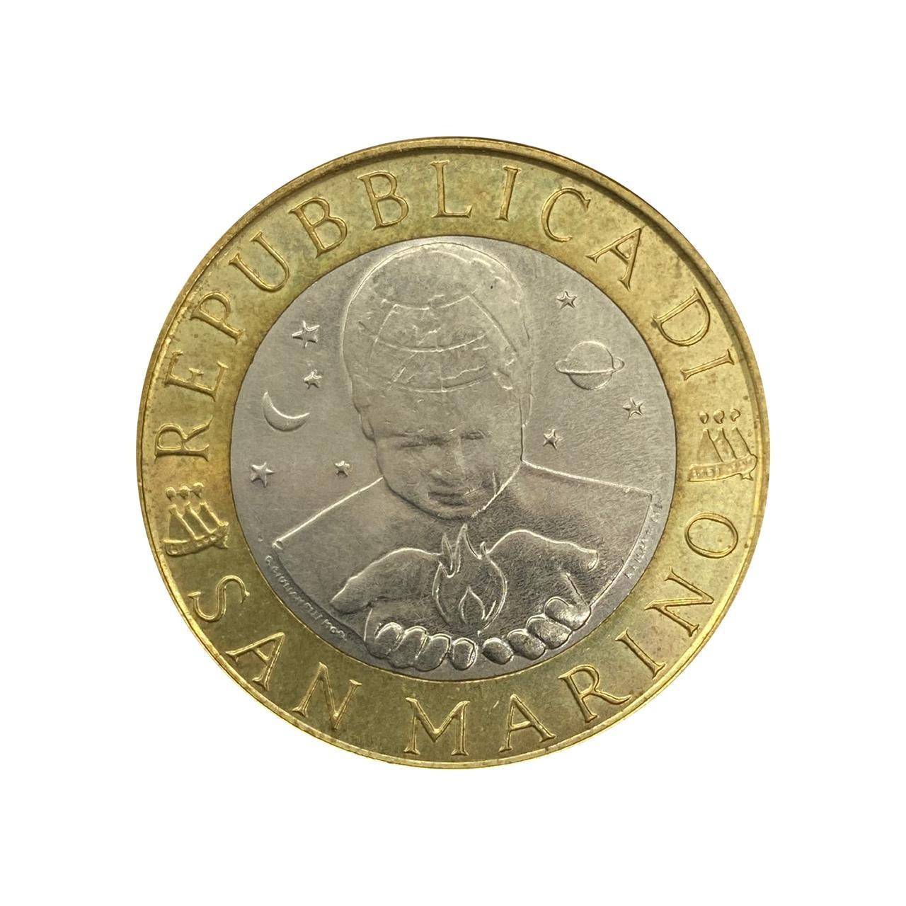 Moeda San Marino 1000 Liras 1999 SOB
