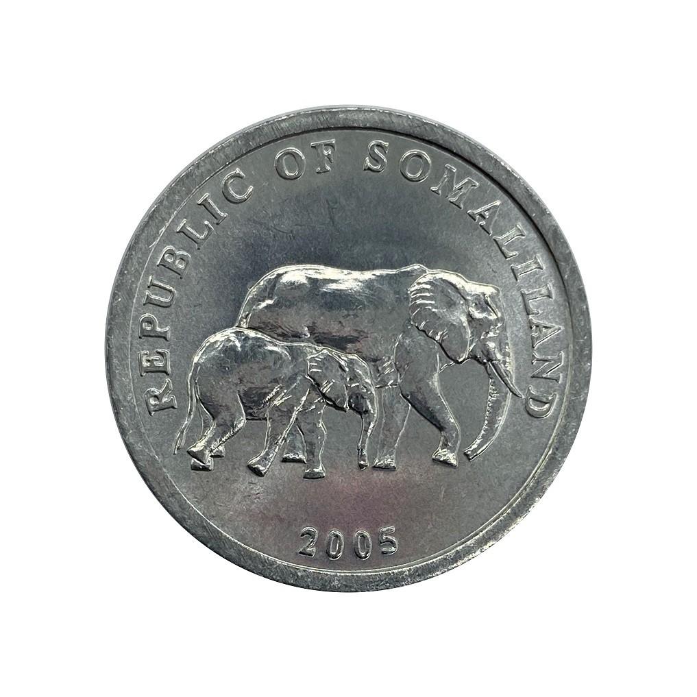 Moeda Somalilândia Fauna 5 Shillings 2005 SOB