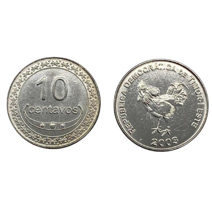 Moeda Timor Leste 10 centavos, 2003-2012 F Fauna