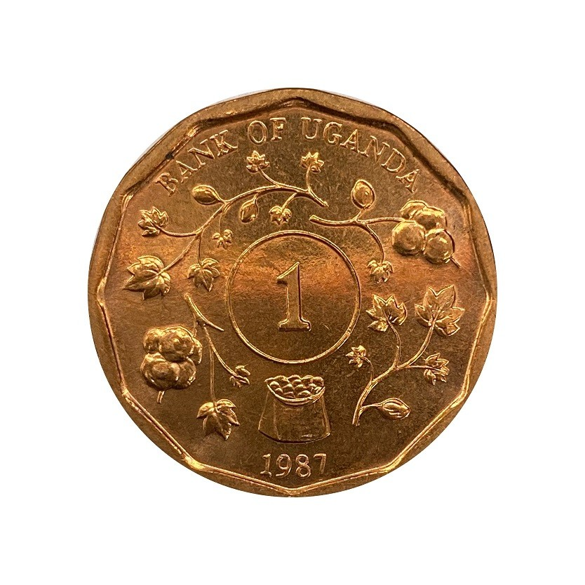 Moeda Uganda 1 shilling (1987)