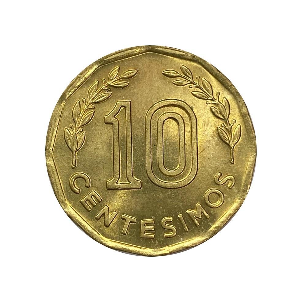 Moeda Uruguai 10 centimos 1981 FC
