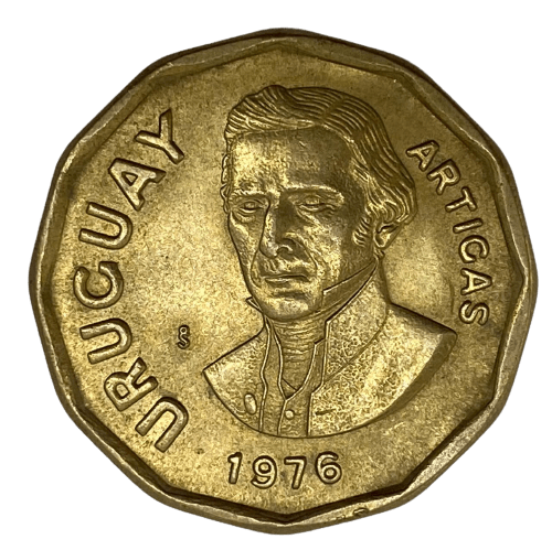 Moeda Uruguai 1 peso 1976 mbc