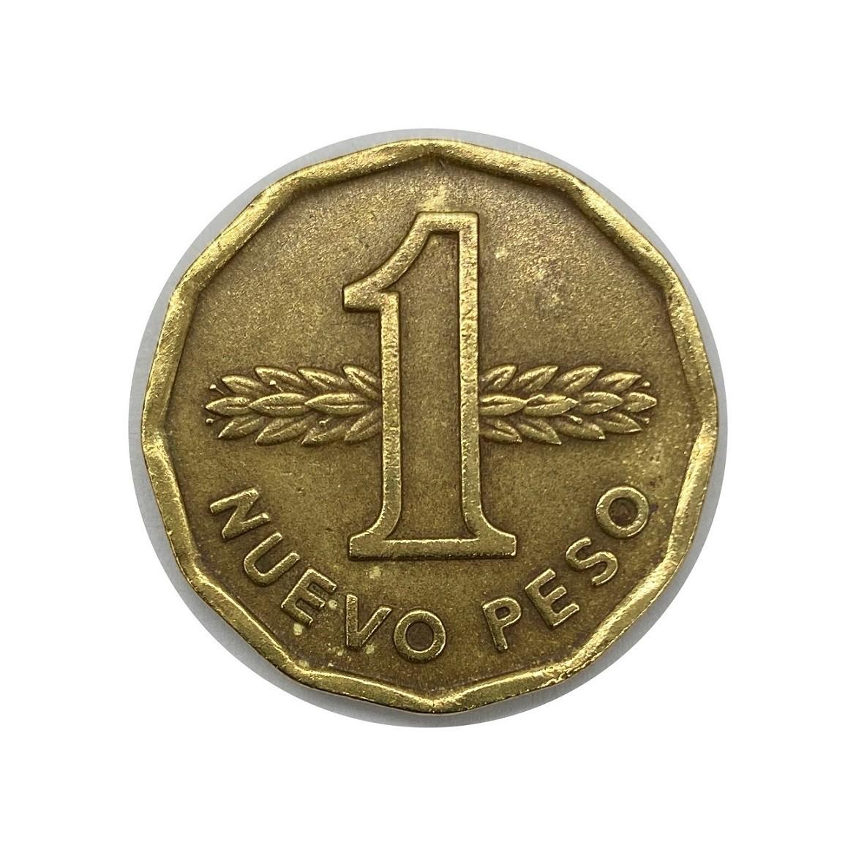 Moeda Uruguai 1 Peso Novo 1976 MBC