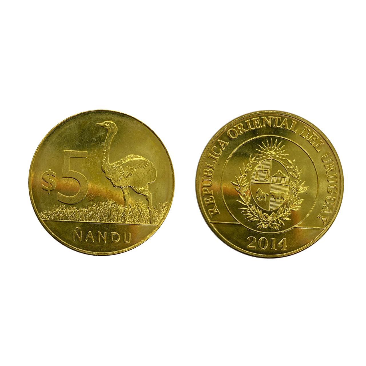 Moeda Uruguai Fauna 5 Pesos 2014 FC