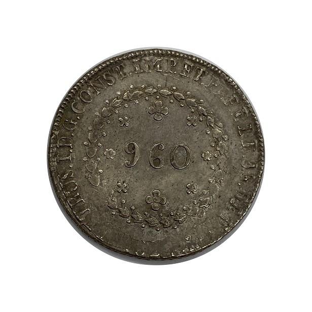 Moedas Brasil 960 REIS 1824 R  IMPÈRIO