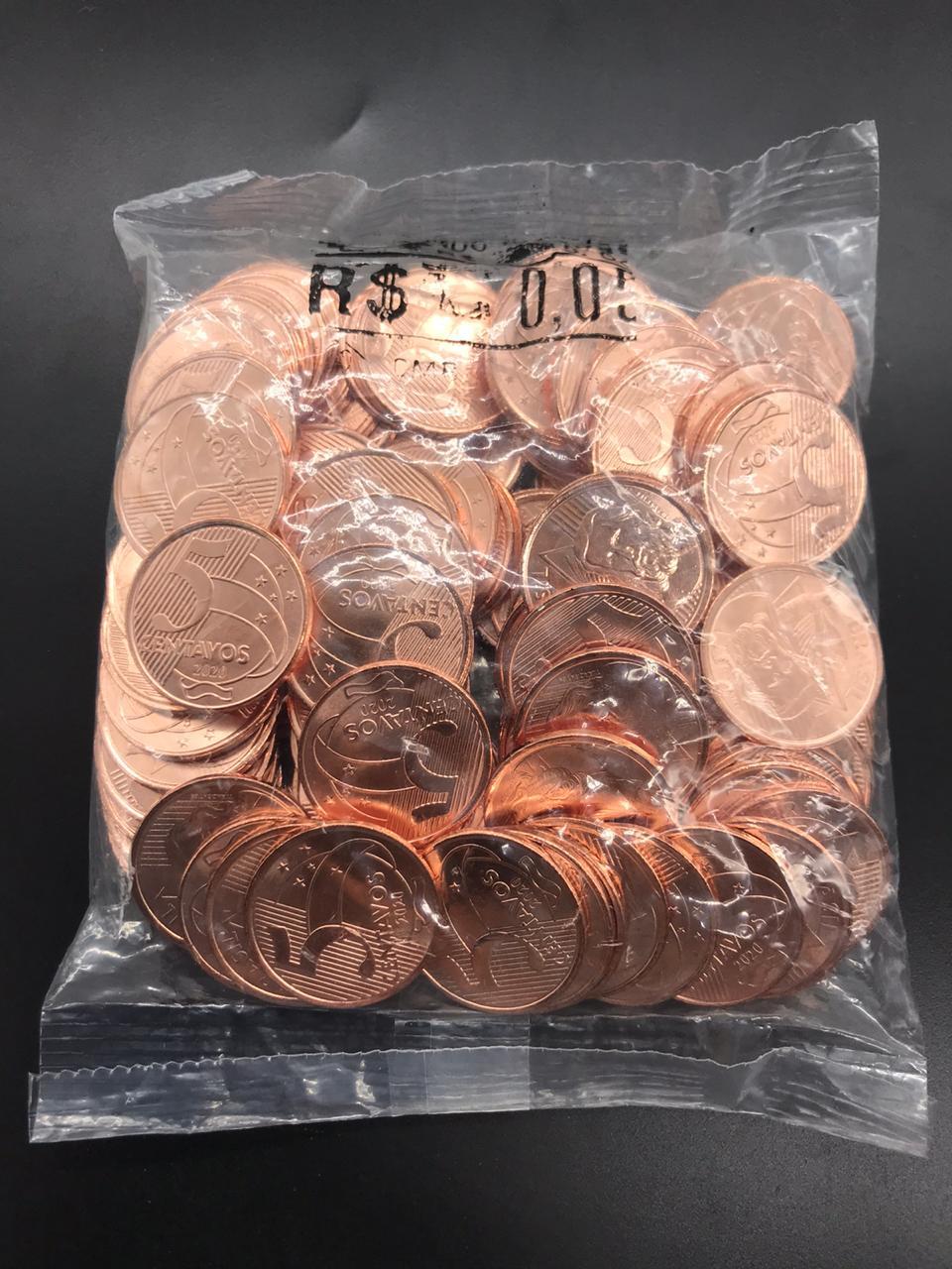 SACHÊ 0,05 CENTAVOS 2020 com  moedas