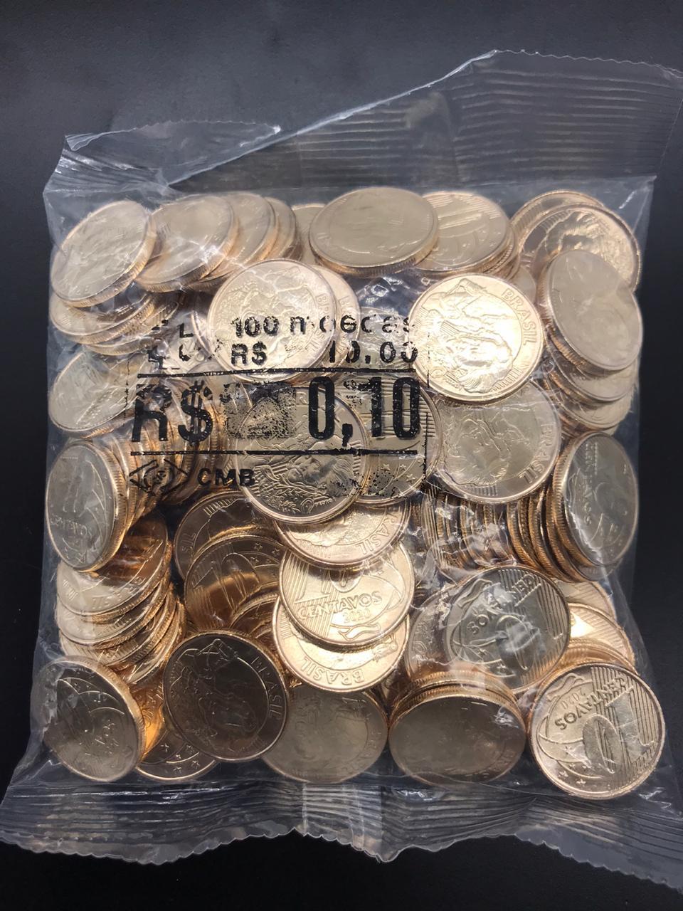 SACHÊ 0,10 CENTAVOS 2020 com  moedas