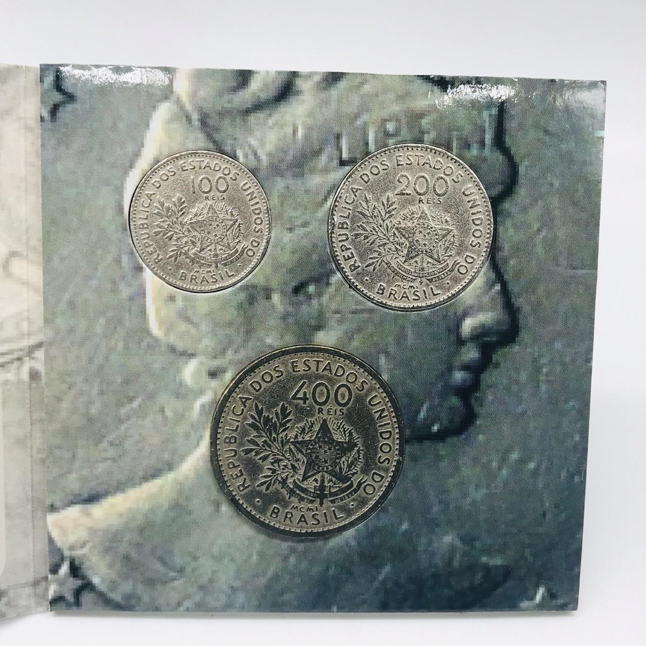 Série com as 3 moedas MCMI (1901) MBC + cartela