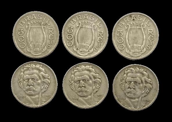 Série Carlos Gomes 300 Reis 1936-1937-1938 MBC