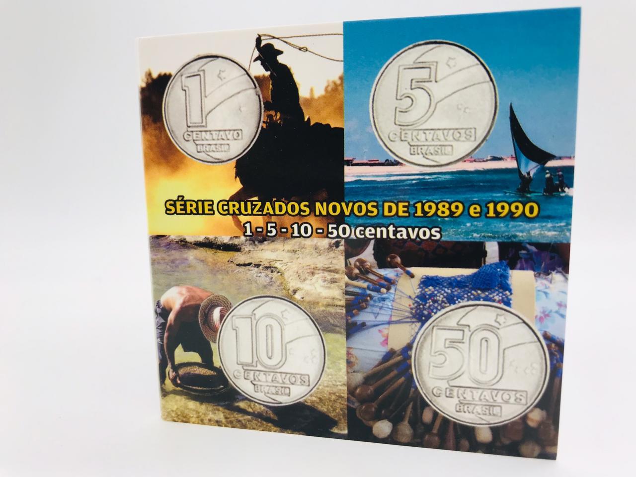 Série com 4 Moedas (1989) SOB+ cartela