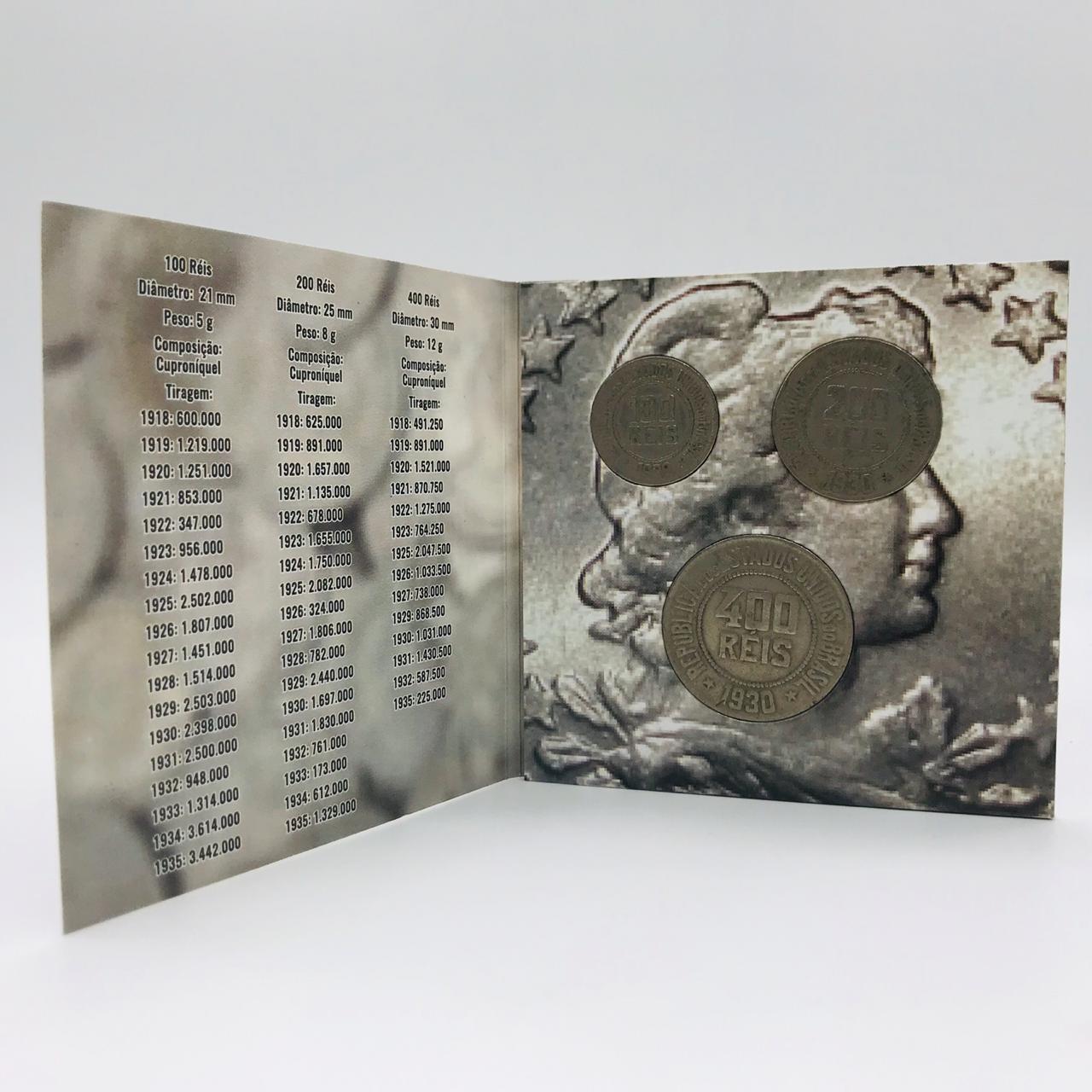 Série Réis República - moedas com folder